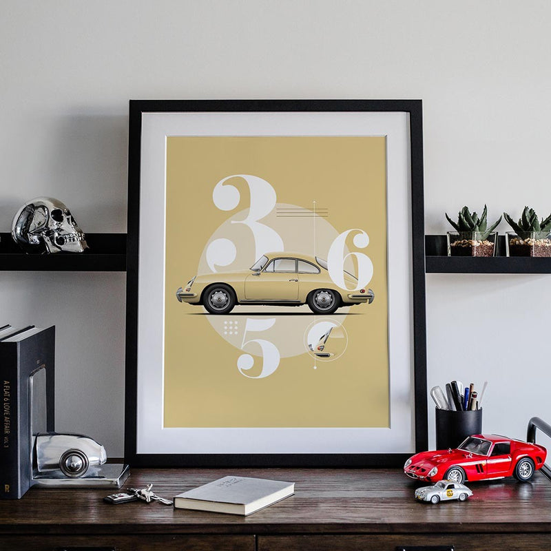 Vintage Beauty - 356 Car Poster