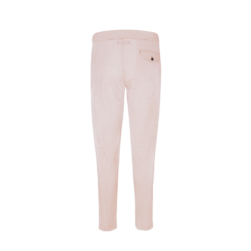 Pink Seersucker Stripe Cruiser Trouser