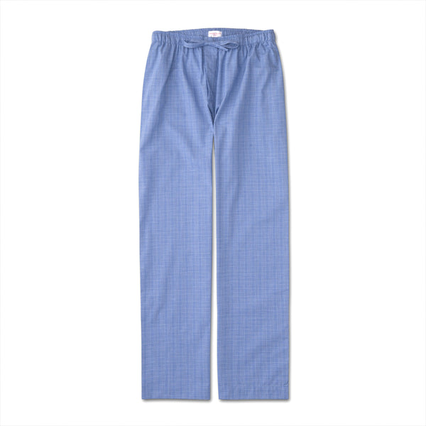Felsted 3 Blue Check Brushed Cotton Lounge Trousers