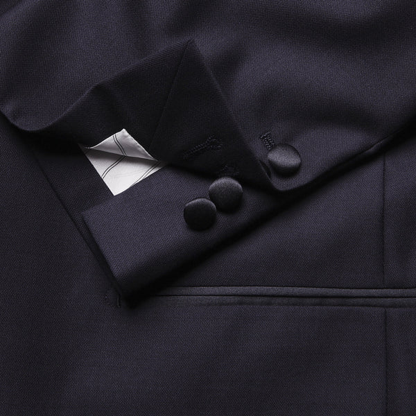 Midnight Blue Shawl Collar 2 Piece Dinner Suit