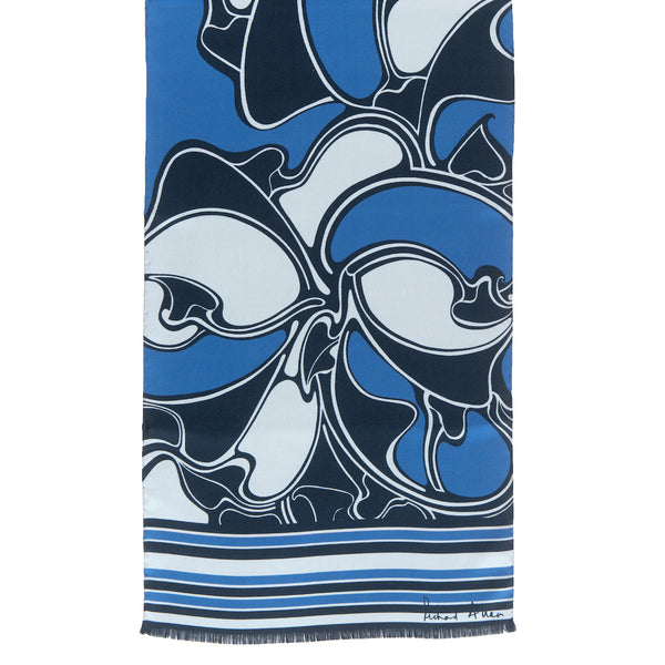 Peacock Metro Long Silk Scarf