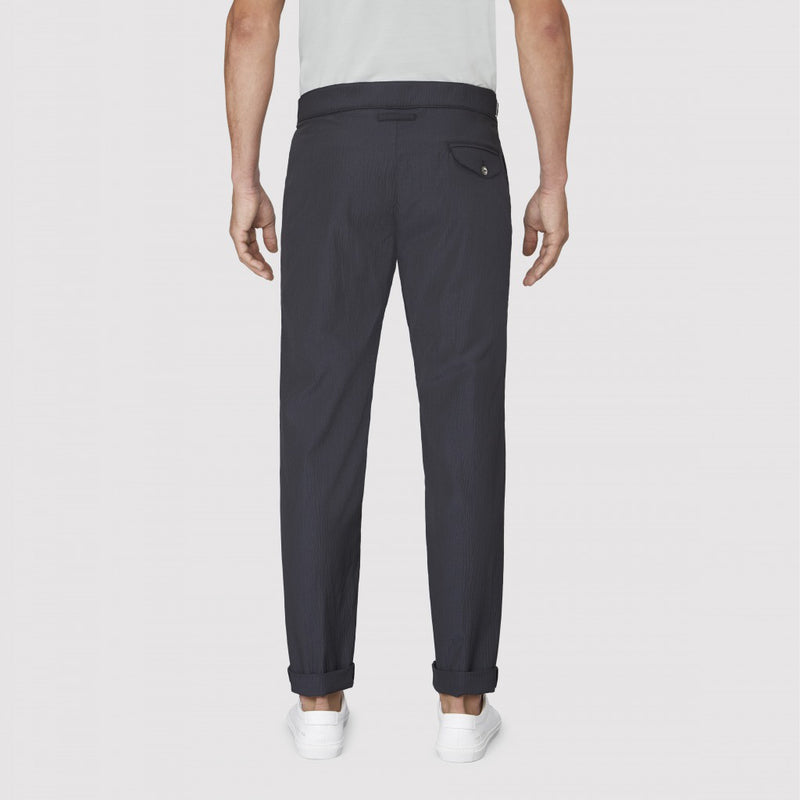 Navy Seersucker Stripe Cruiser Trouser