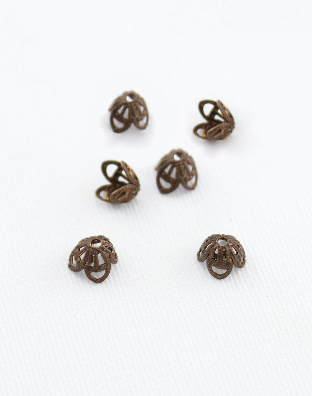 Filigree Bead Cap, 7mm, (4pcs)