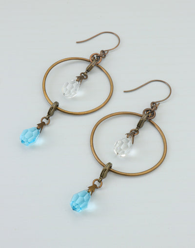 Drippy Blues Hoop Earring Interchangeable Set