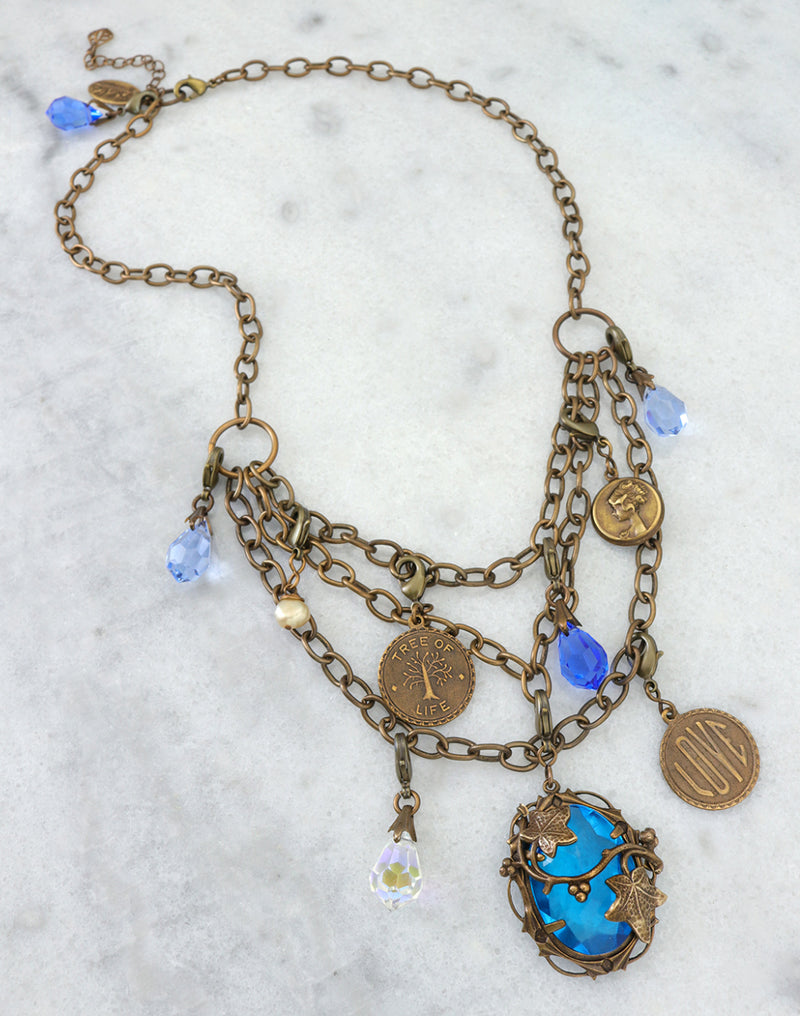 Mediterranean Blues Collection Necklace Interchangeable Set