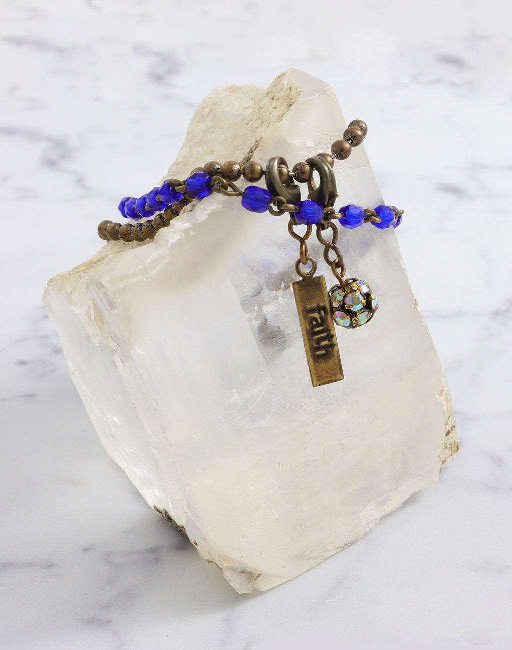 Cobalt Faith Trade Bracelet Interchangeable Set
