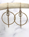 Fine Chain Hoop Earring Interchangeable Set