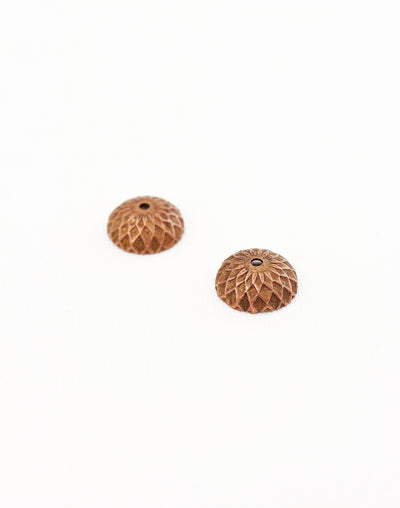 Acorn Bead Cap, 12.5mm, (2pcs)
