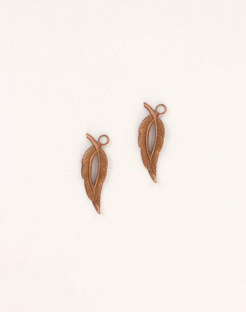 Open Leaf, 29x9mm, (2pcs)