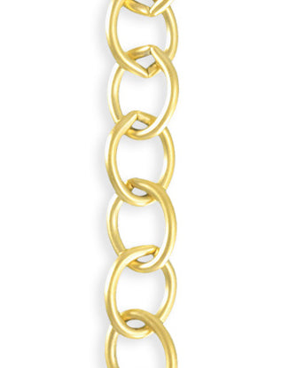 Rounded Oval Chain, 8.7x11.3mm, (1ft)