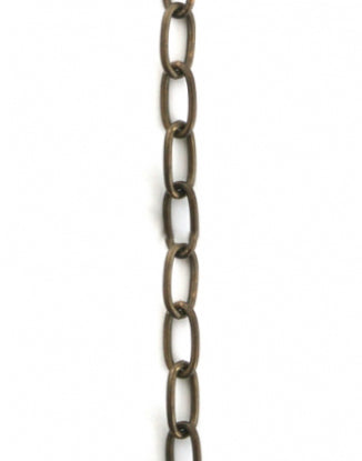 Long Oval Chain, 5.8x11.6mm, (1ft)