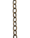 Etched Cable Chain, 6.5x9.5mm, (1ft)