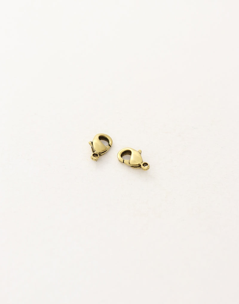 Lobster Clasp, 9.5mm, (2pcs)