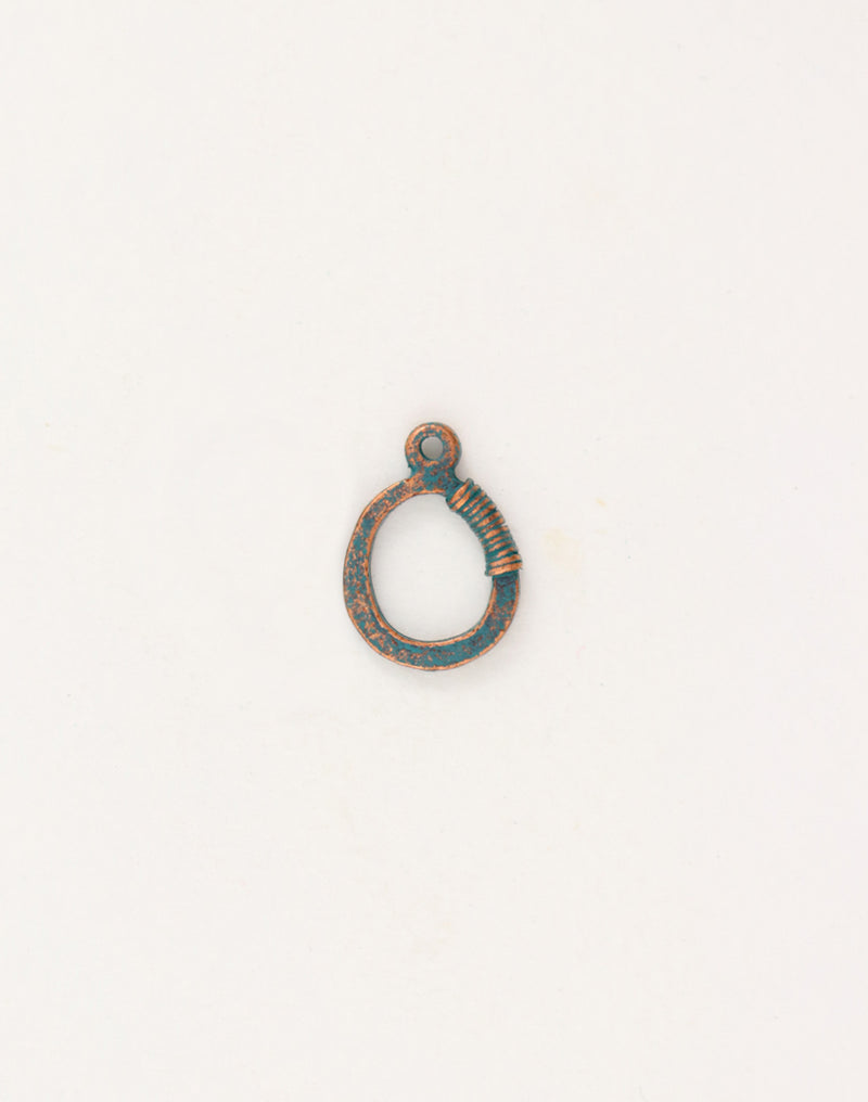 Wire Wrap Ring, 19x14mm, (1pcs)