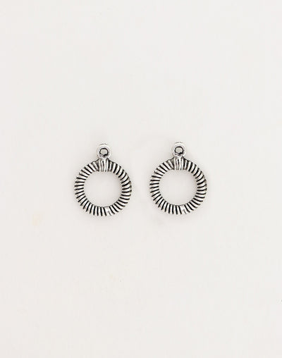 Rib Toggle Ring, 17x14mm, (2pcs)