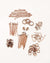 Copper Antique Basics Findings Kit
