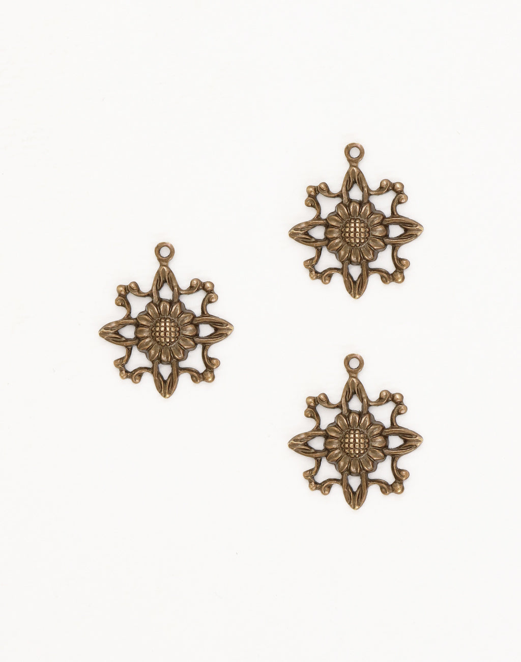 Filigree Sunflower, 20mm, (3pcs)