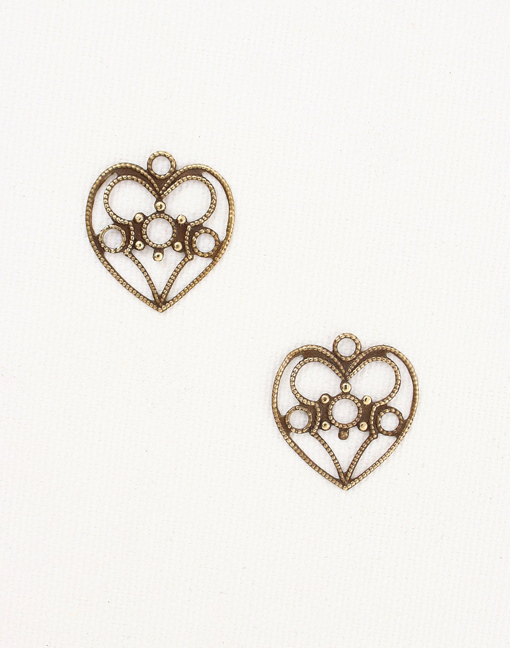 Delicate Heart, 19x18mm, (2pcs)