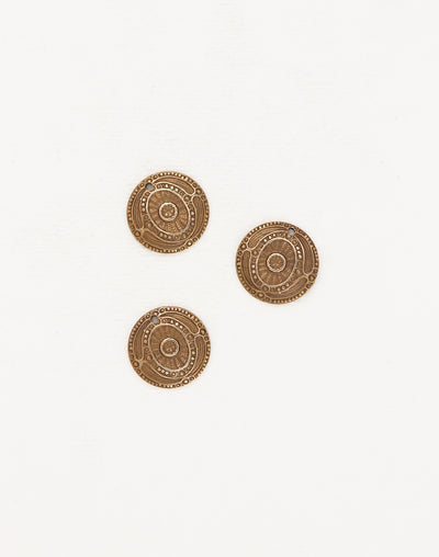 Ancient Coin, 16mm, (3pcs)