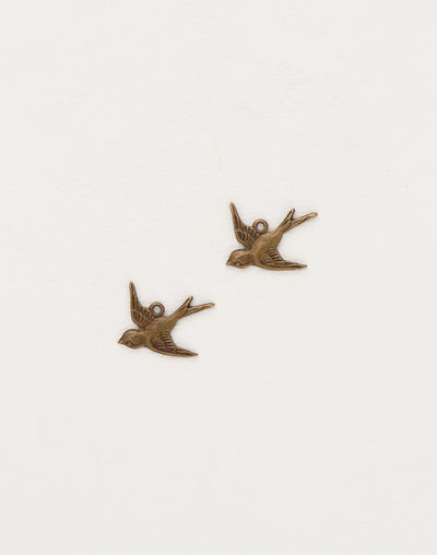 Bird, 17x17mm, (2pcs)