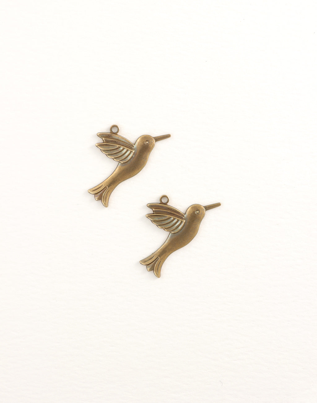 Hummingbird, 28x16mm, (2pcs)