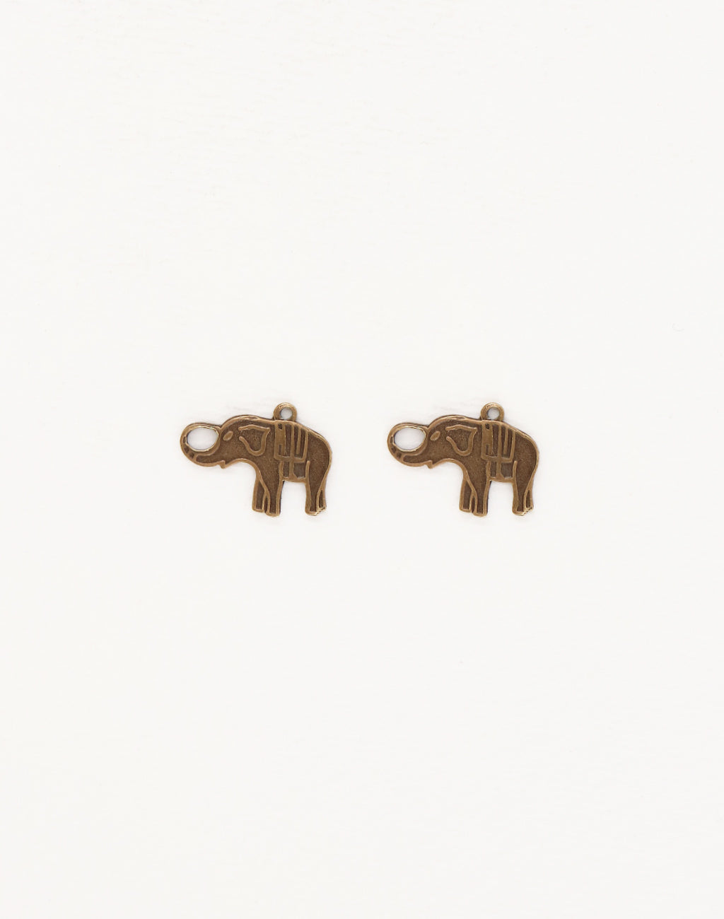 Charmed Elephant, 12x16mm, (2pcs)