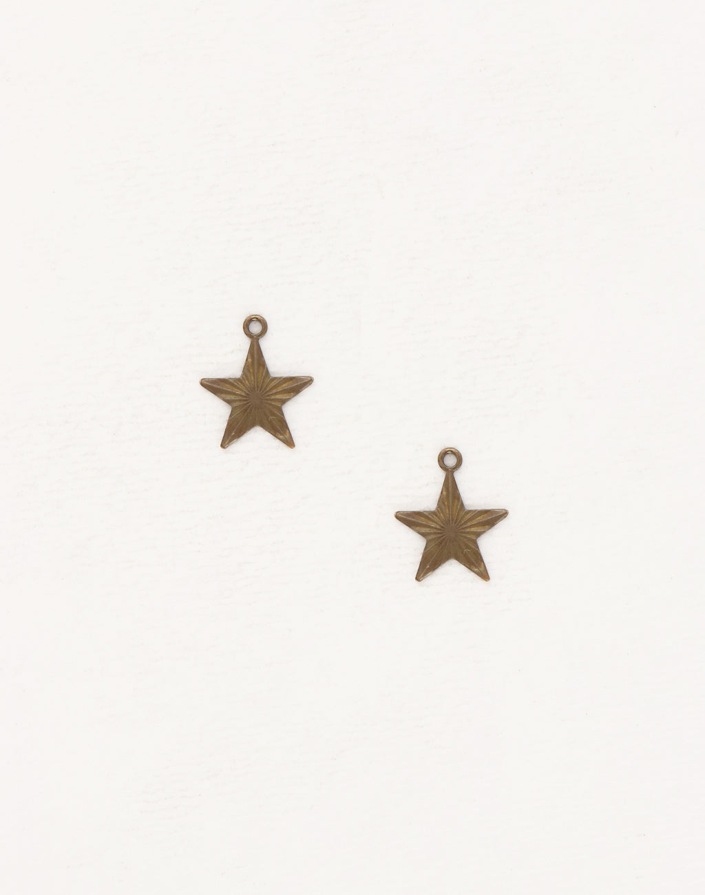 Etched Star Charm, 14x13mm, (2pcs)