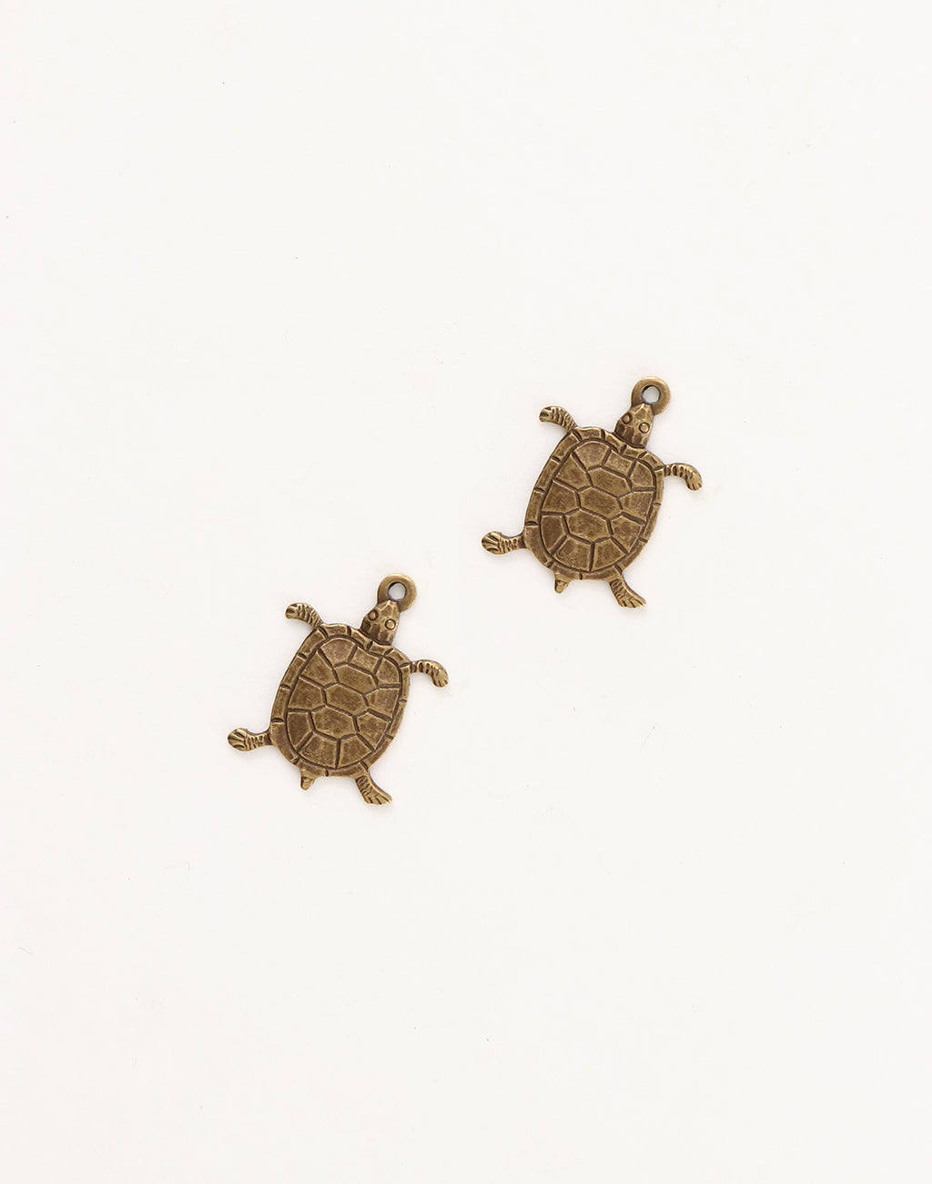 Turtle Charm, 17x13mm, (2pcs)