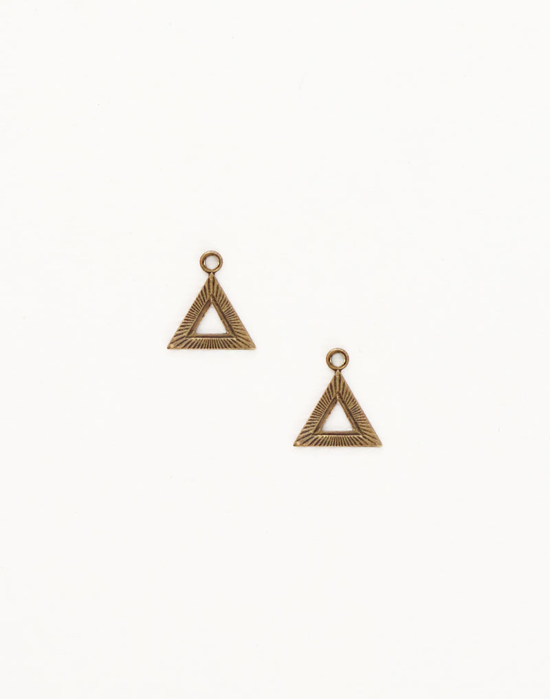 Pyramid, 12x11mm, (2pcs)