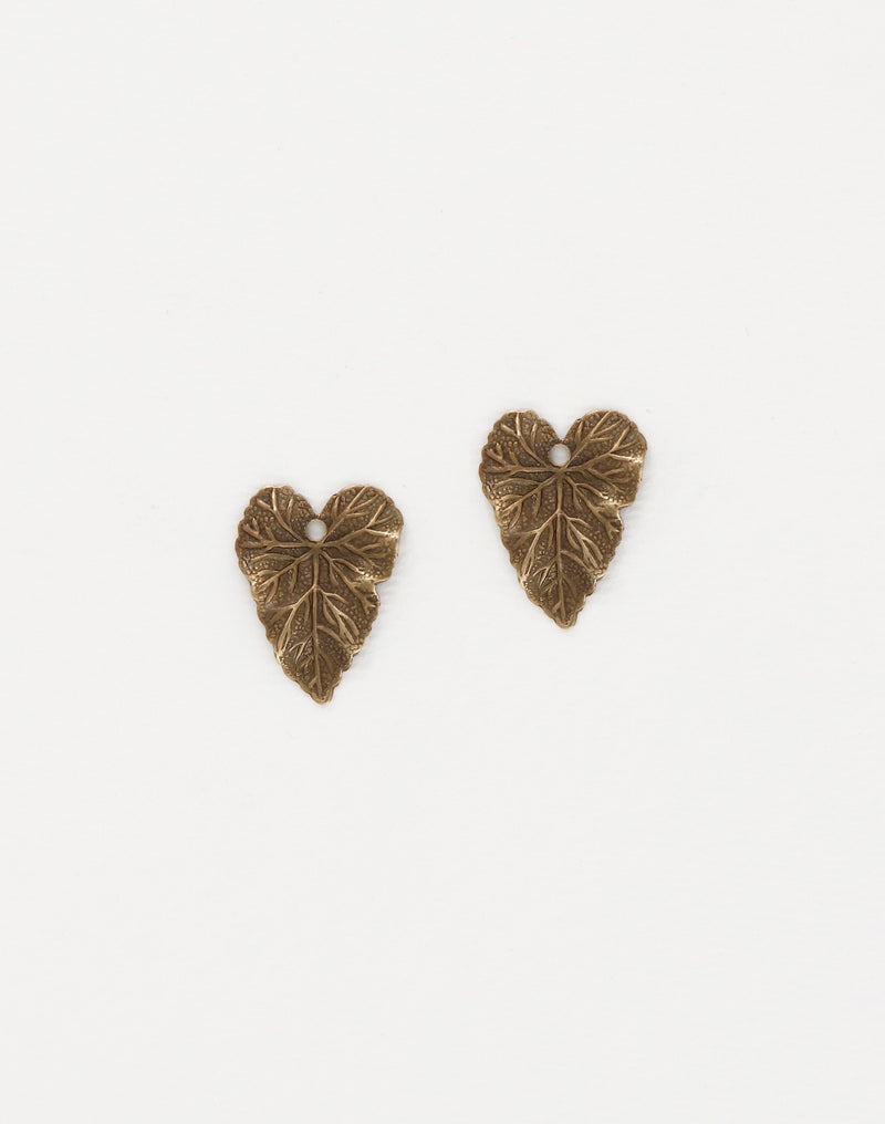 Woodland Leaf Charm, 18x14mm, (2pcs)