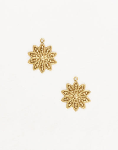 Decennial Flower, 19.5x16mm, (2pcs)