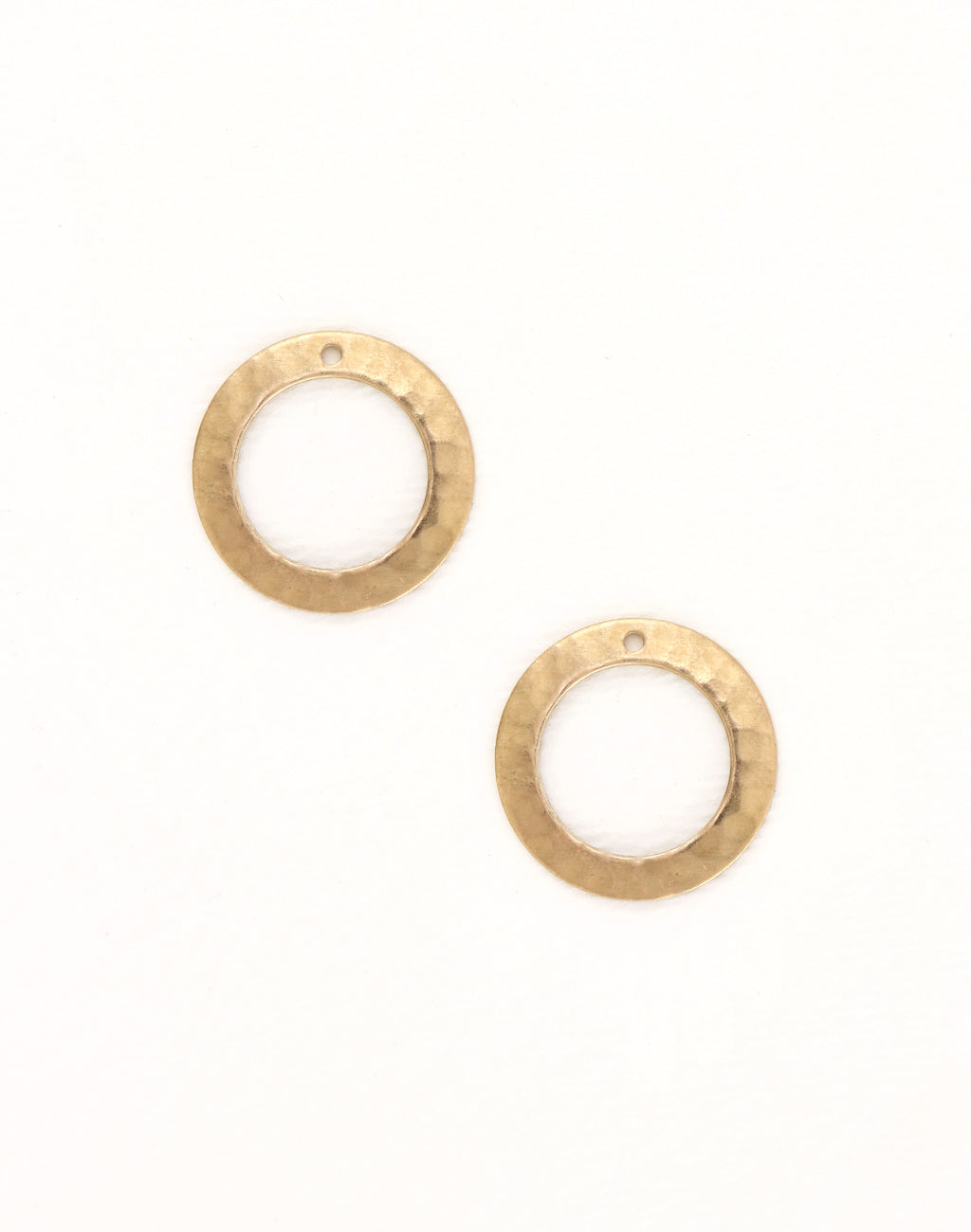 Tiny Hammered Ring, 19mm, (2pcs)