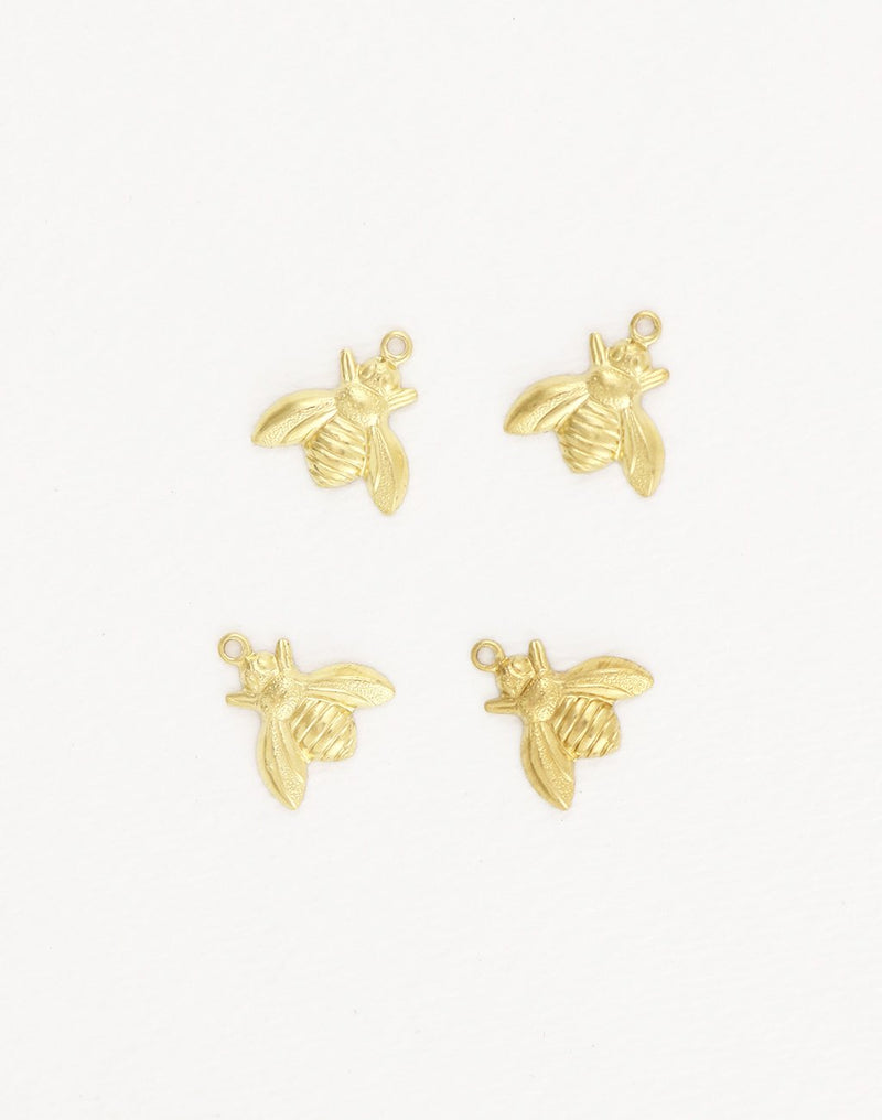 Bumble Bee, 13x12mm, (4pcs)
