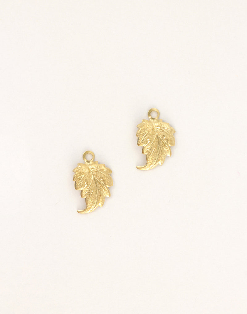 Whimsical Leaf, 21x14mm, (2pcs)