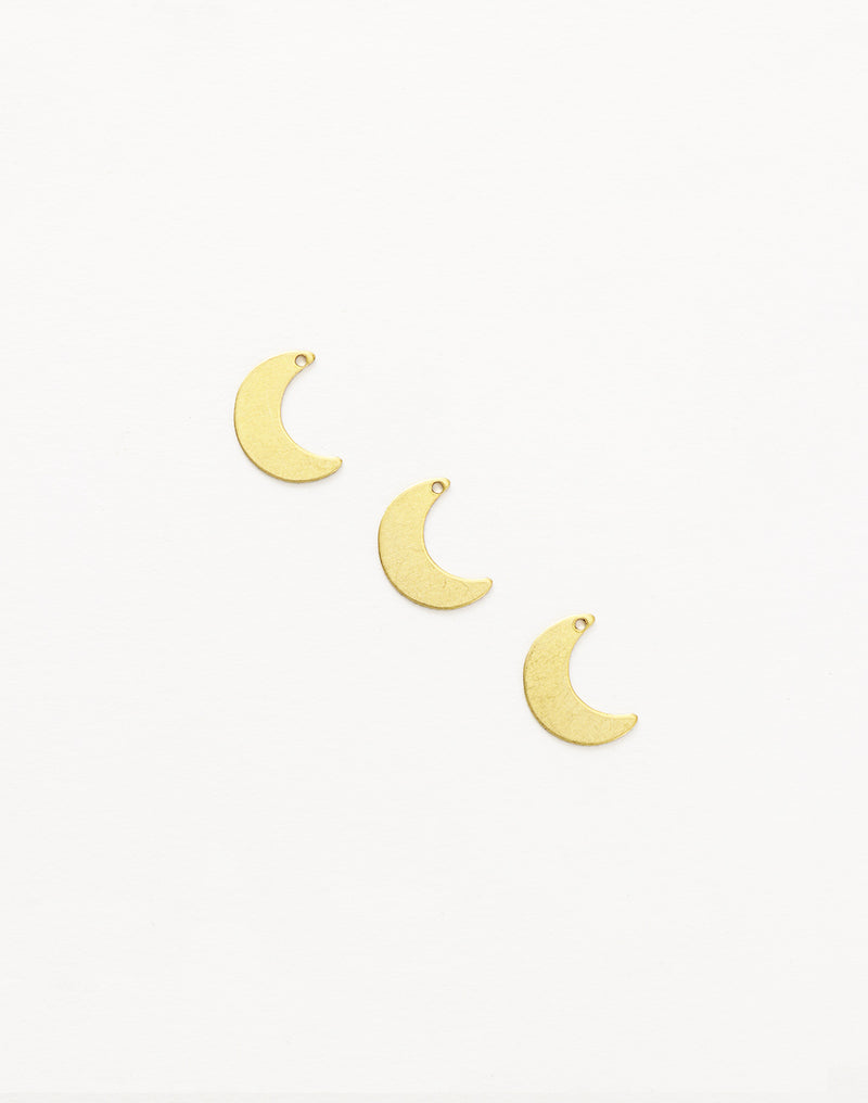 Moon, 13mm, (3pcs)