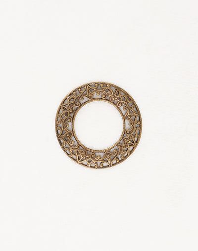 Scrolled Filigree Ring, 28mm, (1pc)