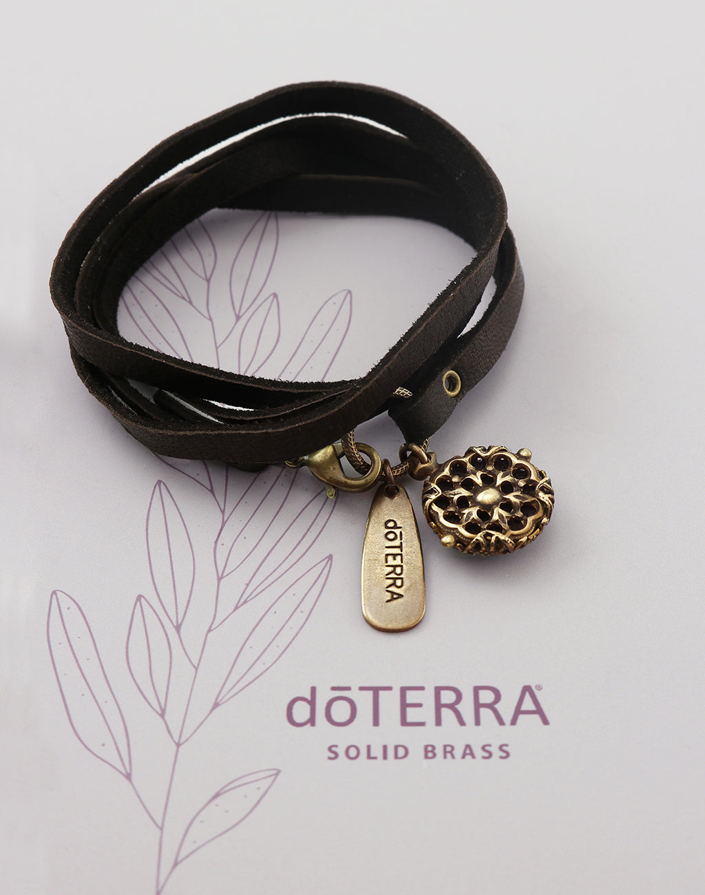doTERRA GUIDE Diffuser Leather Wrap Bracelet