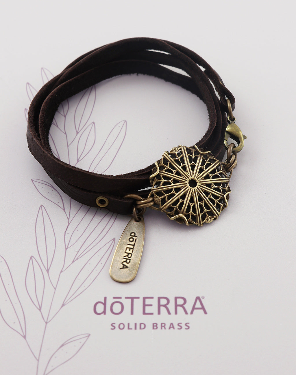 doTERRA PATHWAY Diffuser Leather Wrap Bracelet