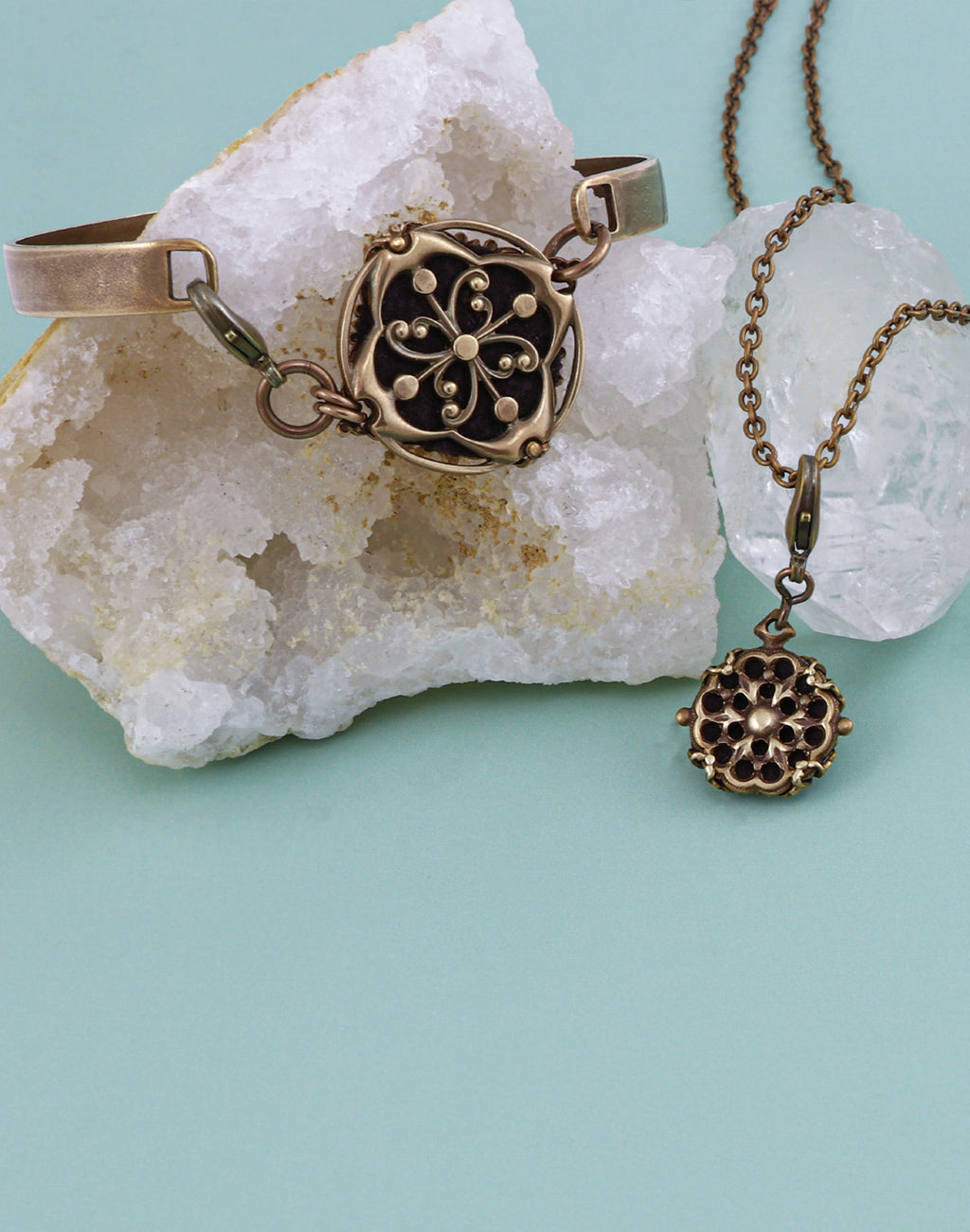 Mixed Diffuser Bracelet & Necklace Interchangeable Set