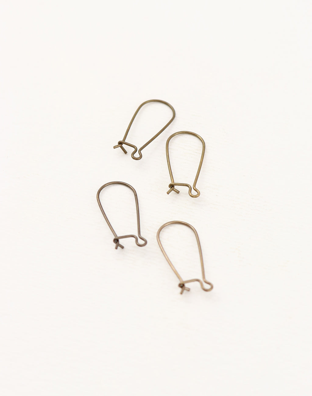 Arched Ear Wire, 20x9mm, (4pcs)