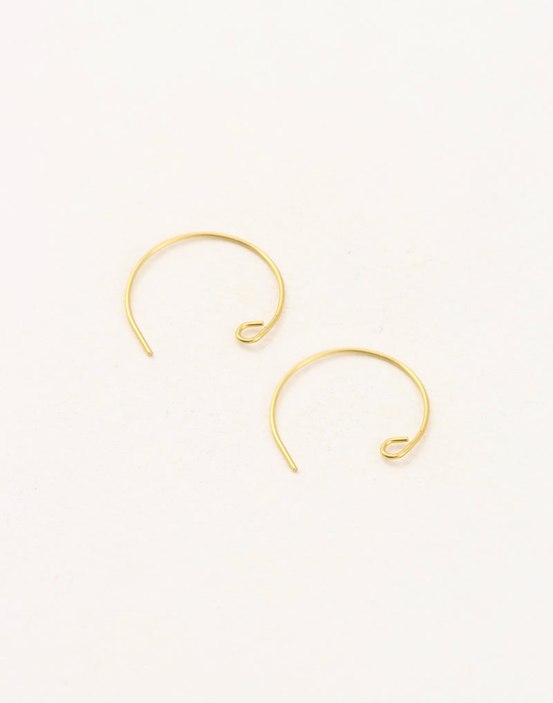Circle Ear Wire, 18mm, (2pcs)