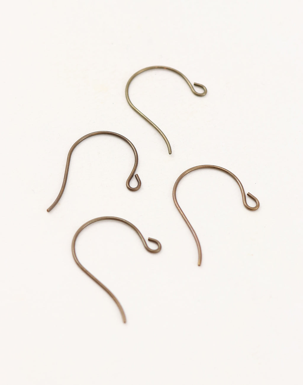 Round Loop Ear Wire, 27x15mm, (4pcs)