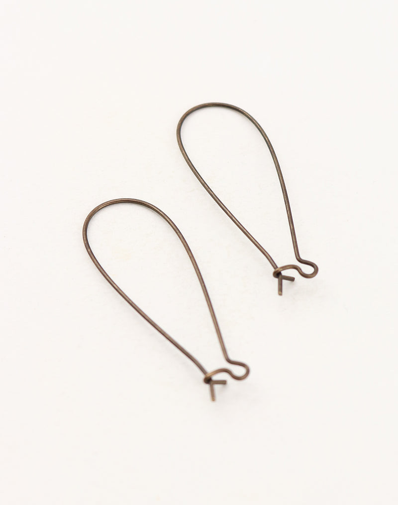 Long Arched Ear Wire, 45x17mm, (2pcs)