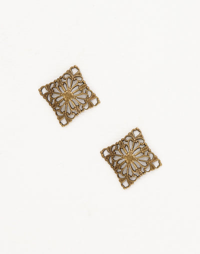 Square Dapped Filigree, 20mm, (2pcs)
