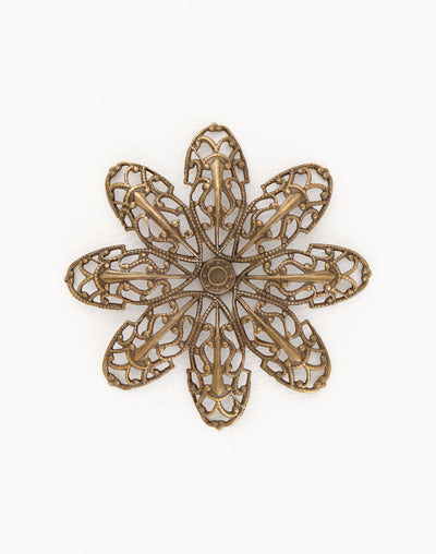 Passion Flower Filigree, 42mm, (1pc)
