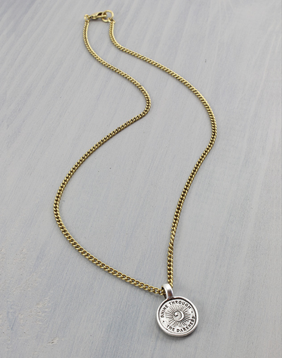 """Shine Through"" Necklace, (1pc)"