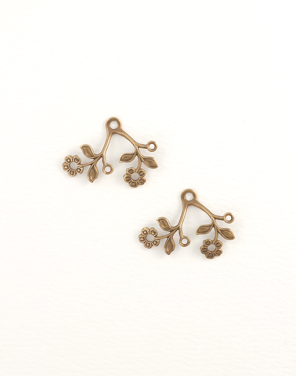 Blossoming Duet, 28x22mm, (2pcs)