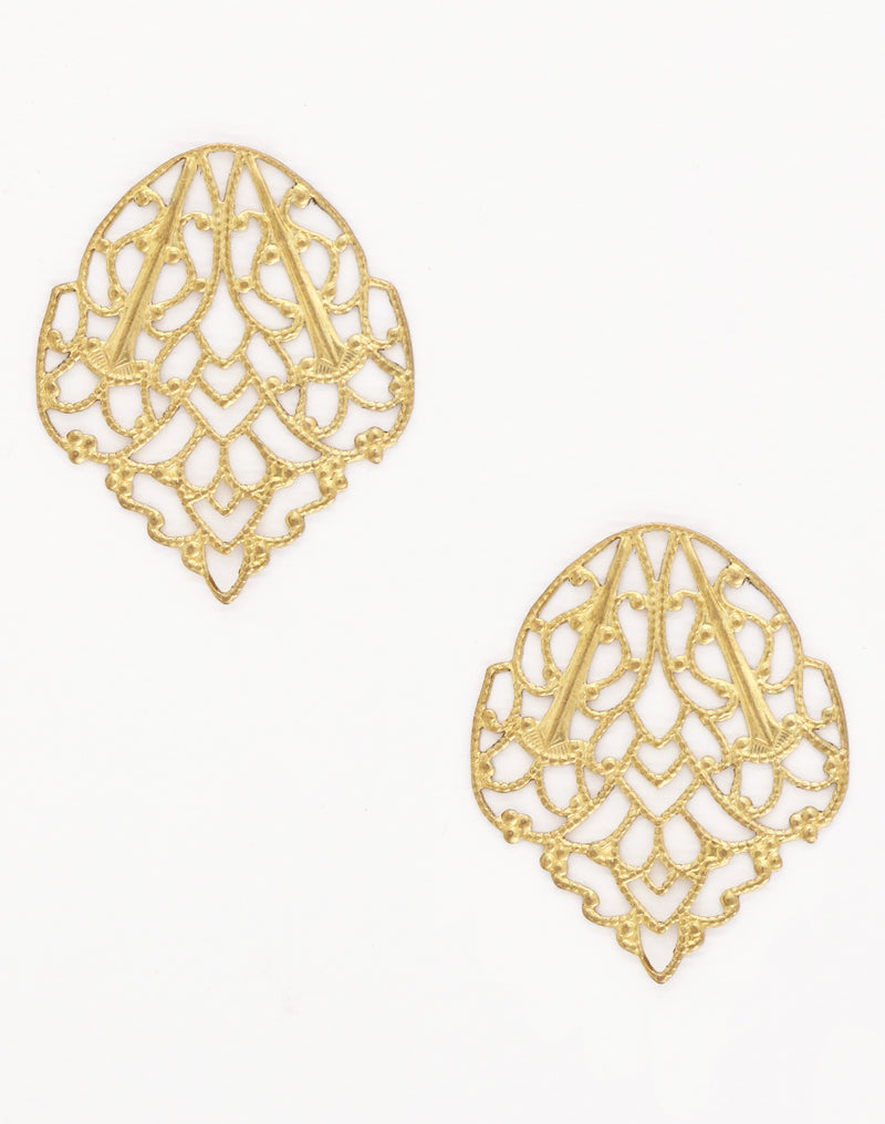 Delicate Crest Filigree, 33x28mm, (2pcs)