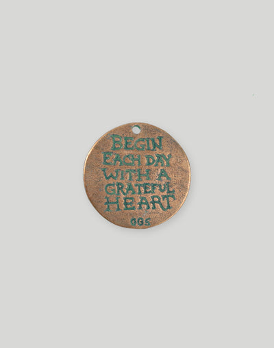 Grateful Heart, 27.5mm,  (1pc)