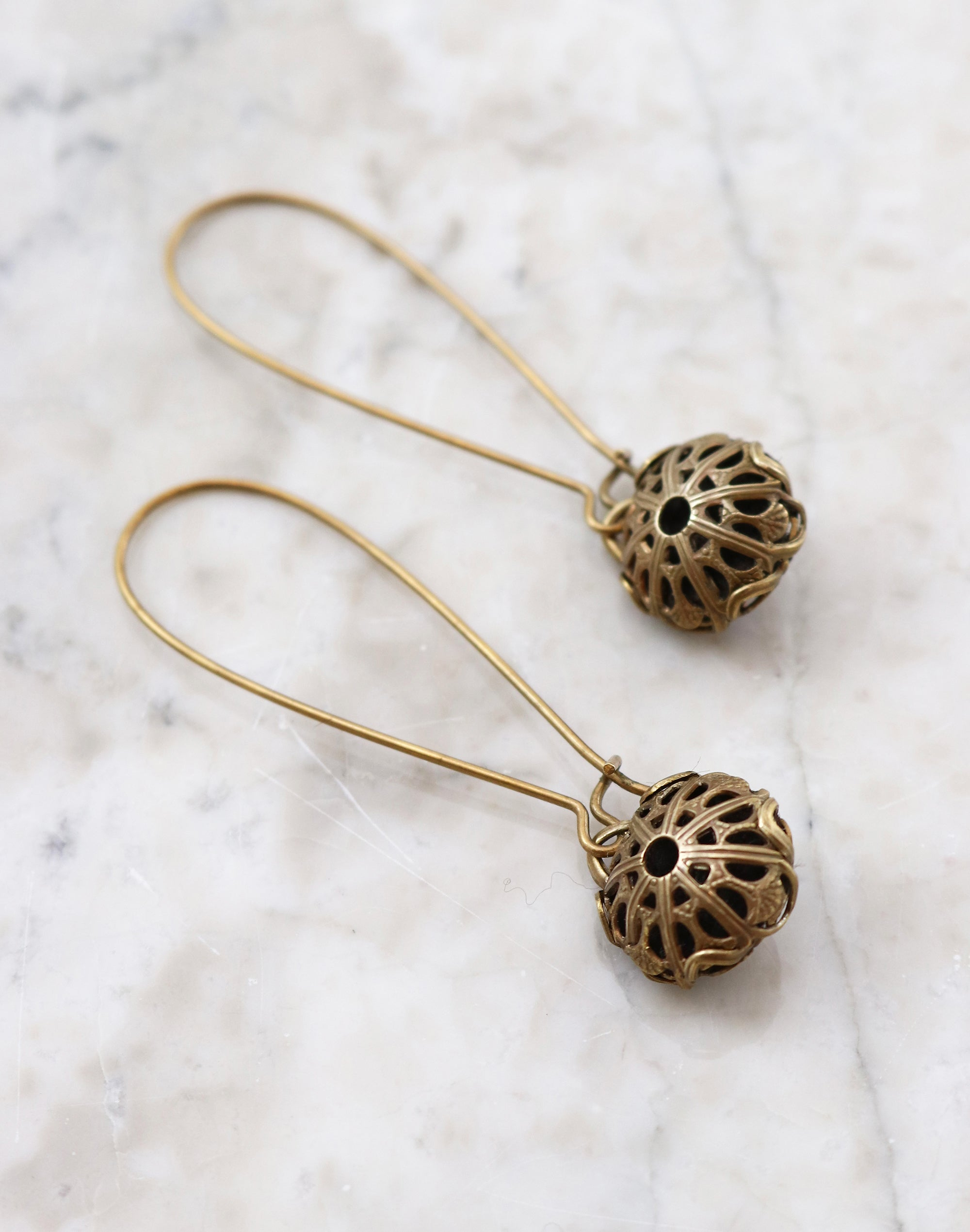 Sphere Diffuser Earrings, (1 pair)